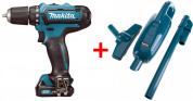 Шуруповёрт DF331DWYE + CL106FDZ пылесос MAKITA